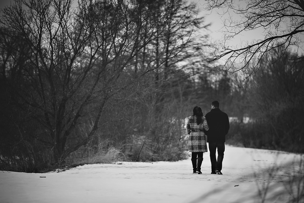 Romantic Toronto Winter Engagement Photo