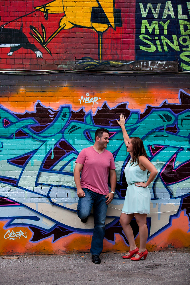 Toronto Engagement Graffiti Alley