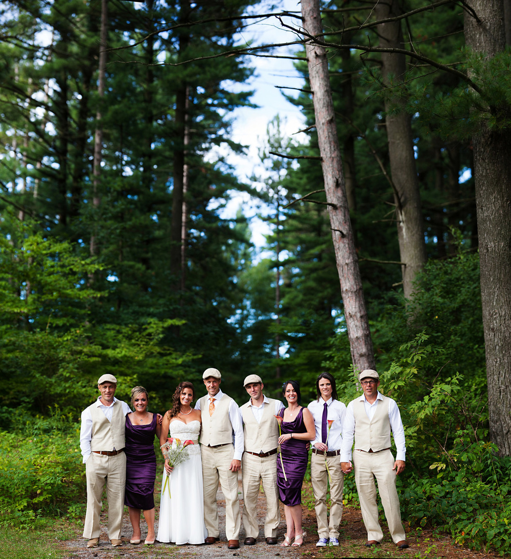 Toronto Wedding Park Bridal Party Portrait