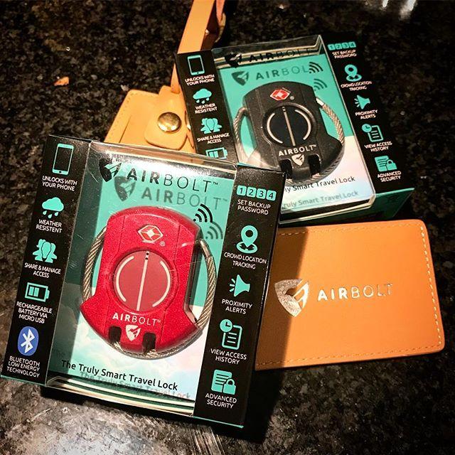 Finally got the Airbolts! @theairbolt #kickstarter #theairbolt #airbolt #travelsmart #vancouver #luggage #travel