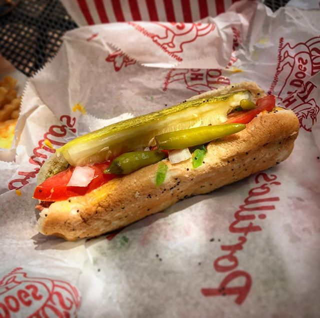 This is truly the only reason I visit Chicago... #portillos #besthotdogintheworld #hotdogs #chicago #willowbrook #chicagohotdog #noketchup