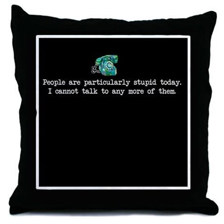 Grumpy Michel Pillow by CafePress