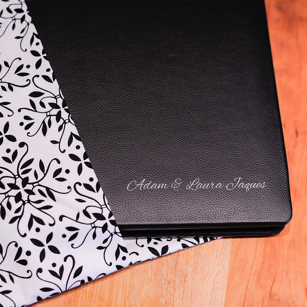 Wedding Albums - Our Madera wedding albums are purchased separately. Madera albums come in leather or linen and are offered in many sizes and colors. Albums are custom designed by us and approved by you. You can expect to receive your wedding album 3-4 weeks after your approval.