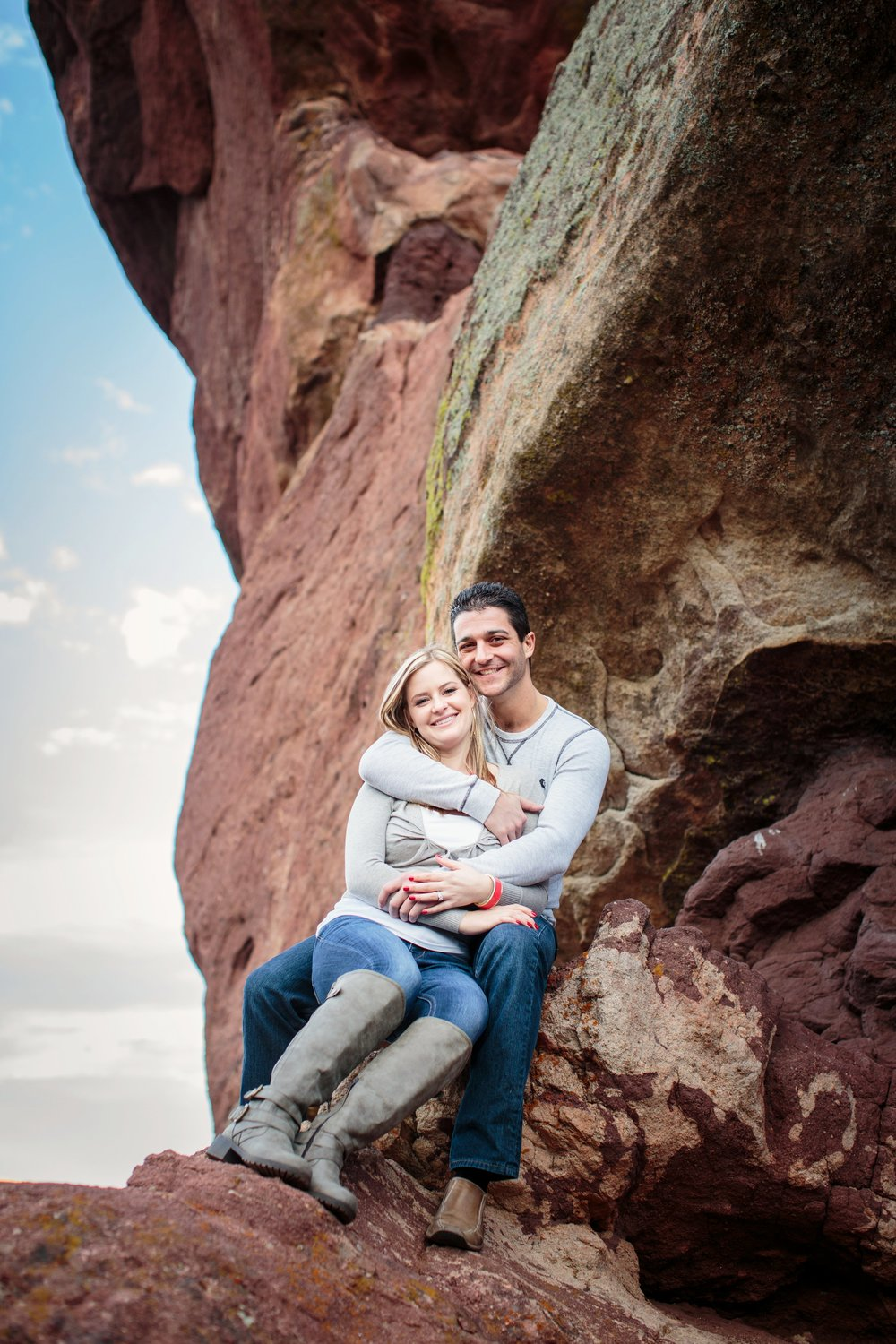 Loving Embrace on Red Rock