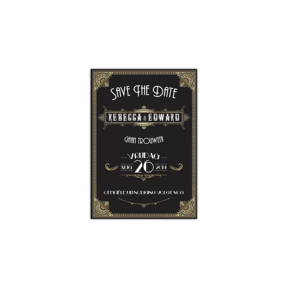 SAVE-THE-DATE: GREAT GATSBY (METALLIC)