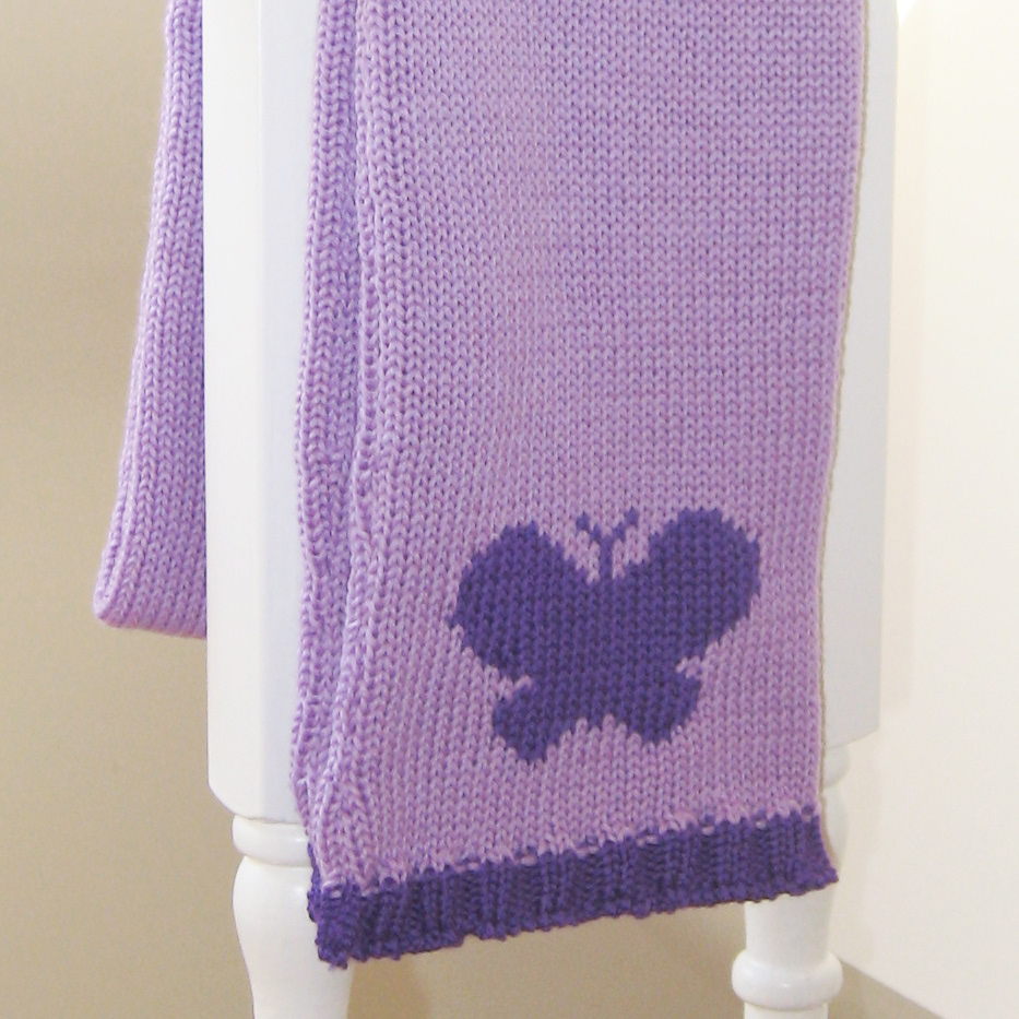 personalised knitted butterfly scarf