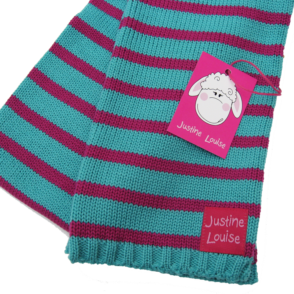 personalised knitted baby girl scarf