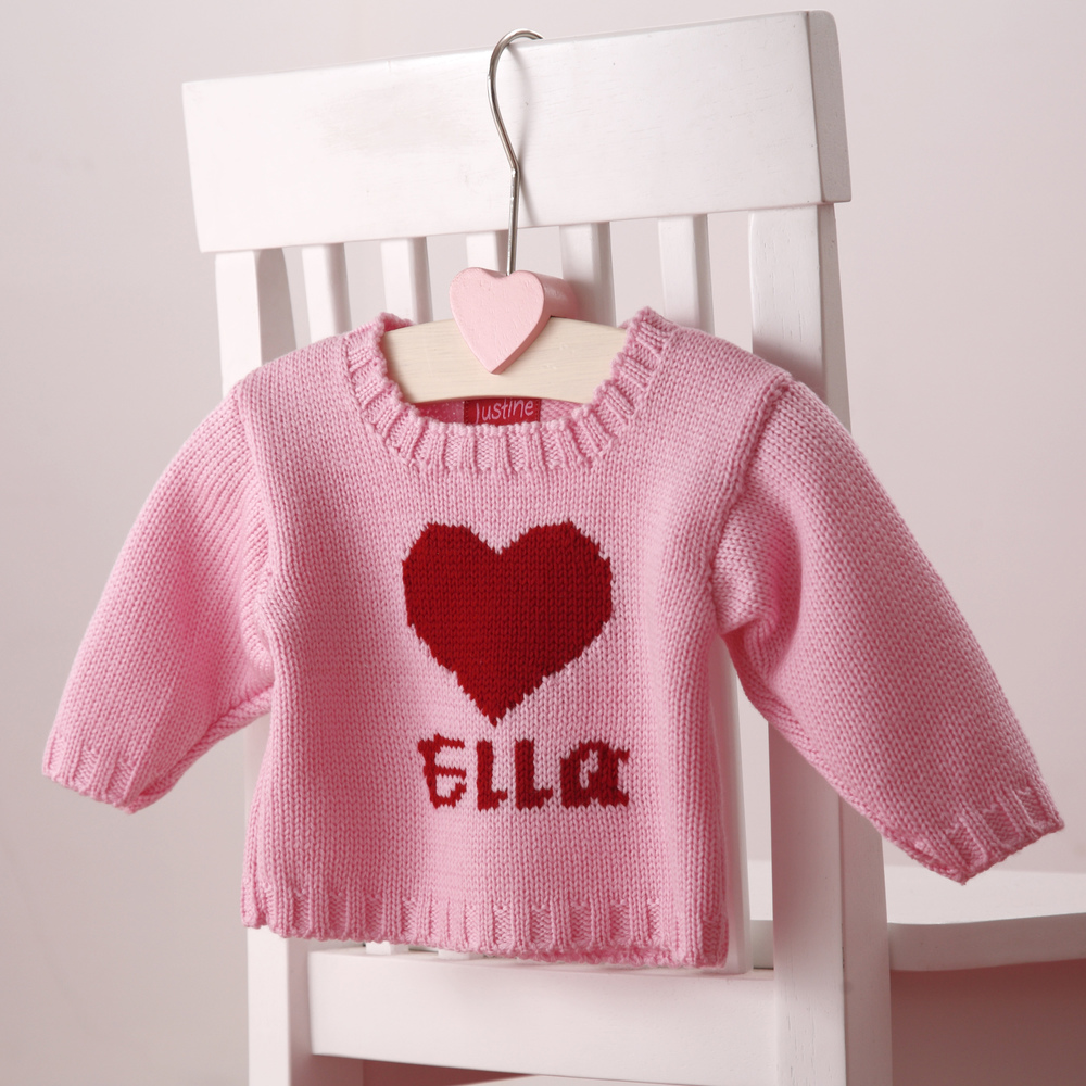 personalised knitted girls jumpers