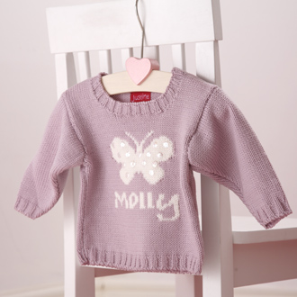personalised knitted butterfly jumper