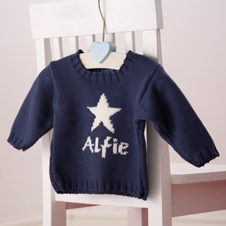 personalised knitted star jumper