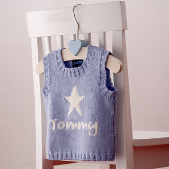 personalised knitted star tank top