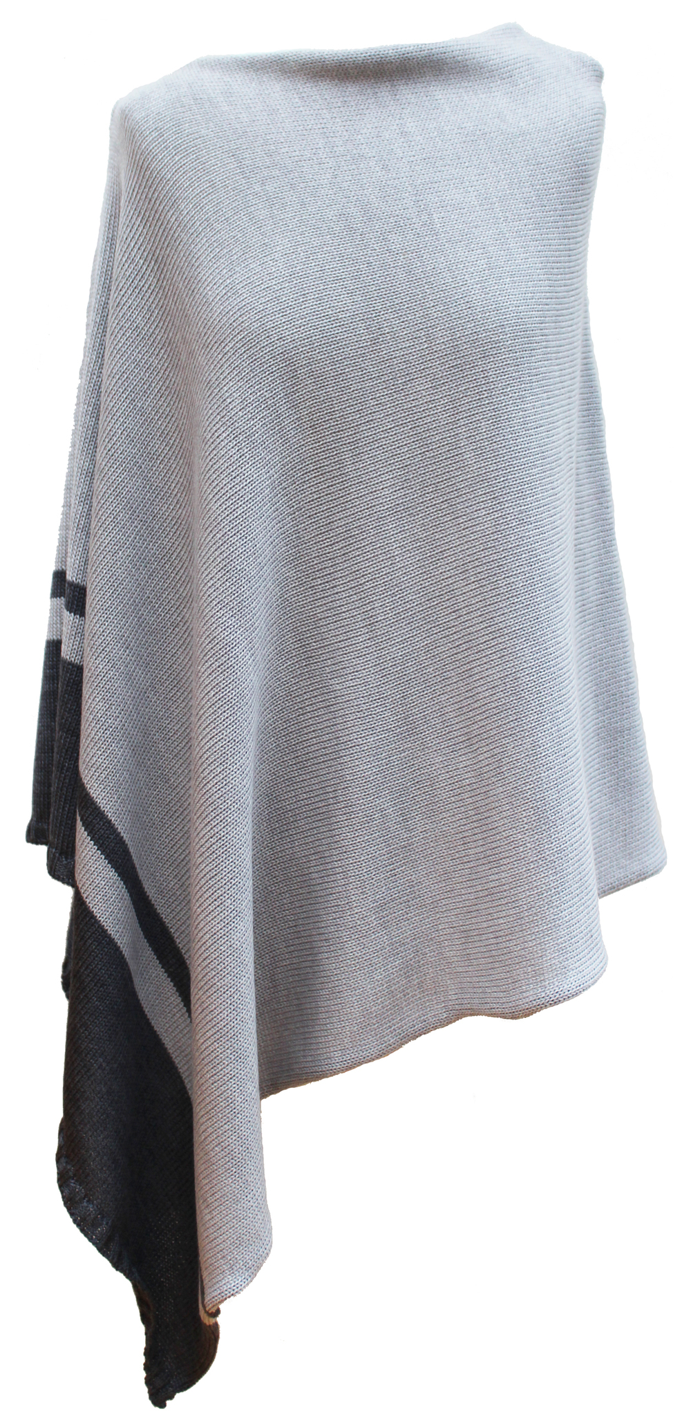 bespoke ladies merino wool knitted poncho