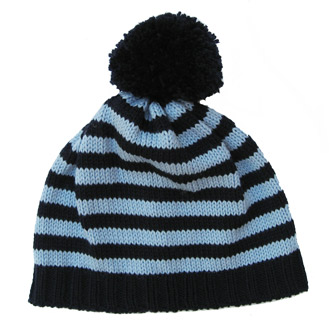 personalised knitted stripy beanie