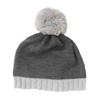 personalised knitted merino wool baby beanie