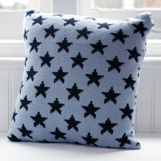 bespoke merino wool knitted stars cushions