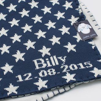 personalised knitted baby boy blankets