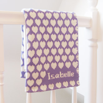 personalised knitted baby blankets