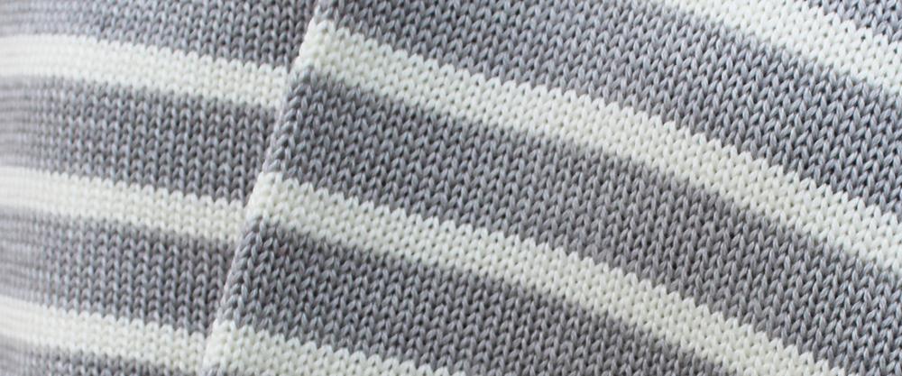 Ladies merino wool knitted stripy scarves
