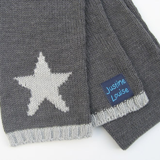 personalised knitted star scarf