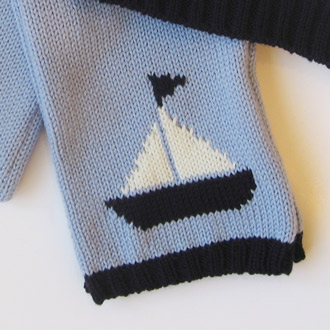 personalised knitted boat scarf
