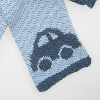 personalised knitted car scarf