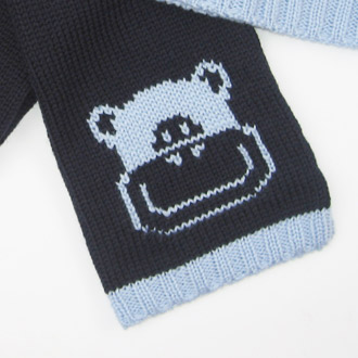 personalised knitted monkey scarf