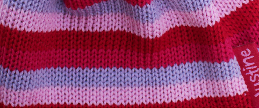 Girls knitted hats and scarves