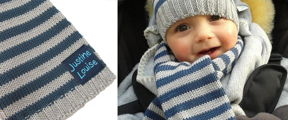 merino wool knitted baby boy scarves