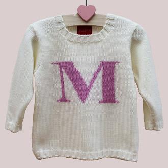personalised knitted monogram jumper