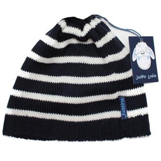 bespoke merino wool knitted stripy baby beanie
