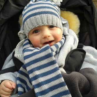 baby boys merino wool knitted beanie hats