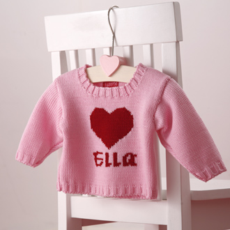 personalised baby girls knitted jumpers
