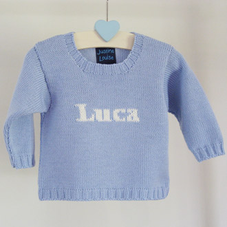 personalised baby boys knitted jumpers