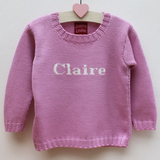 personalised knitted name jumper