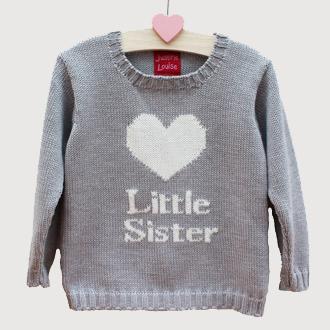 personalised little sister jumper