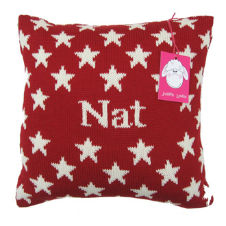personalised stars cushion