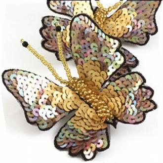 sequin butterfly brooch