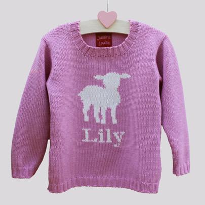 luxury personalised girls jumpers