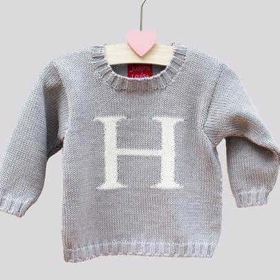 girls monogram sweaters