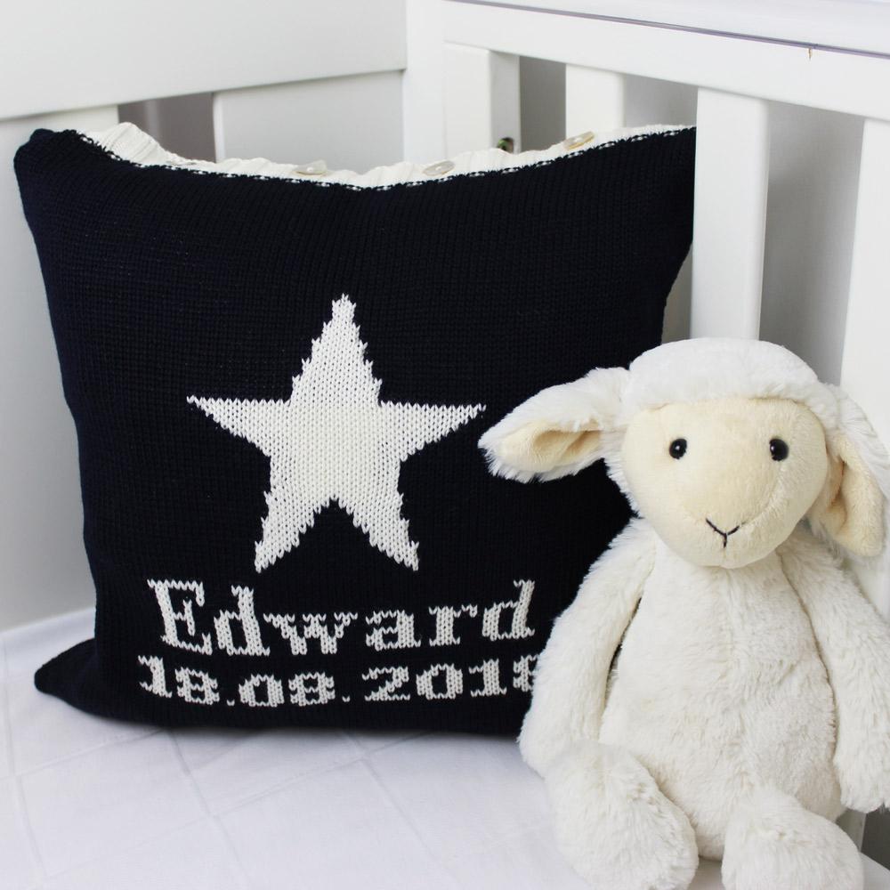 personalised baby boys cushions