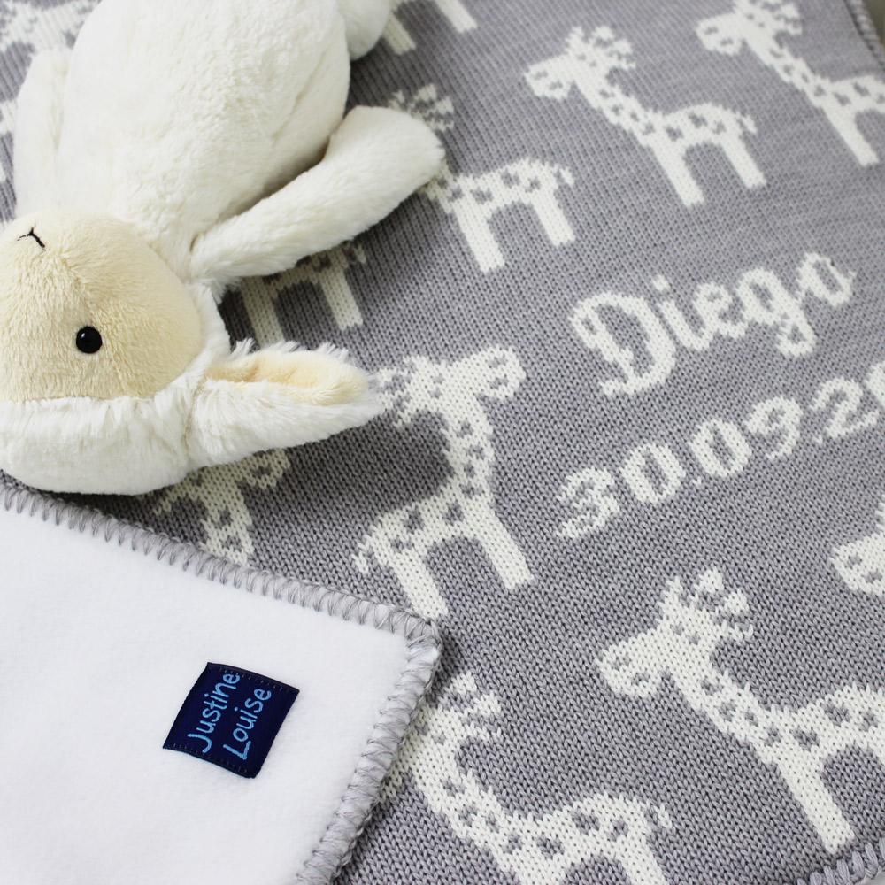 luxury personalised baby boys blankets