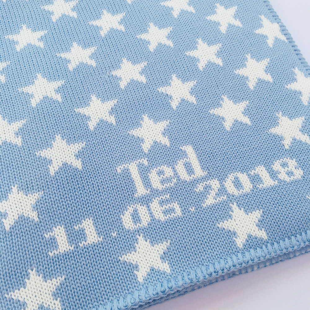 personalised merino baby boys blankets