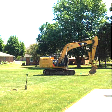 Site work has begun on the Lettie Brown playground.