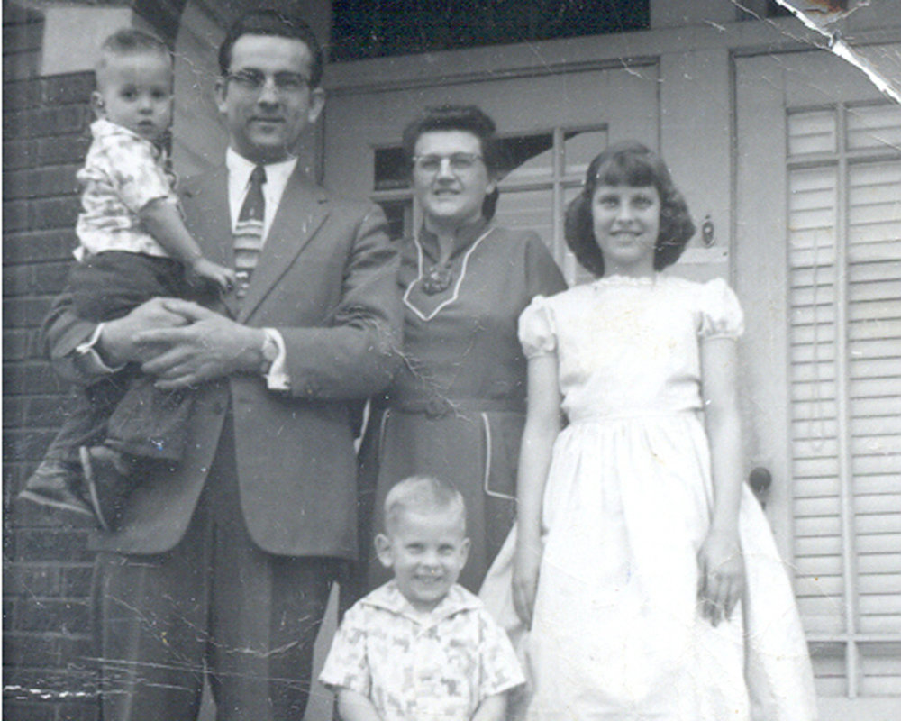 Longenecker Family in Morton during Harold's tenure as Director.