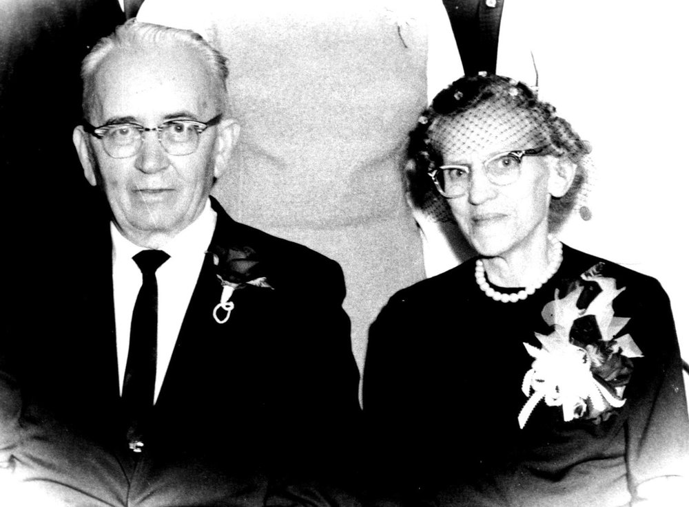 C.J. Rediger and his wife Myrtle