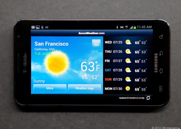 Samsung's Galaxy Note (Credit: Josh Miller/CNET)
