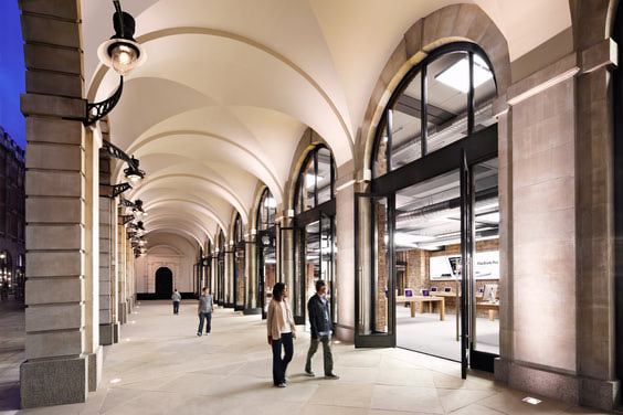 Apple's London flagship store in historic Covent Garden