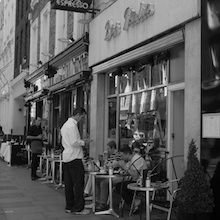 Television was first demonstrated in 1926 by John Logie Baird in rooms above what is now Bar Italia at 22 Frith Street, Soho. The cafe is one of the first espresso bars in London and is certainly the most famous. It opened in 1949, 23 years after Logie Baird's monumental discovery