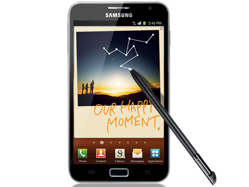 Samsung's Galaxy Note with its 5.3in screen is becoming very popular in Europe