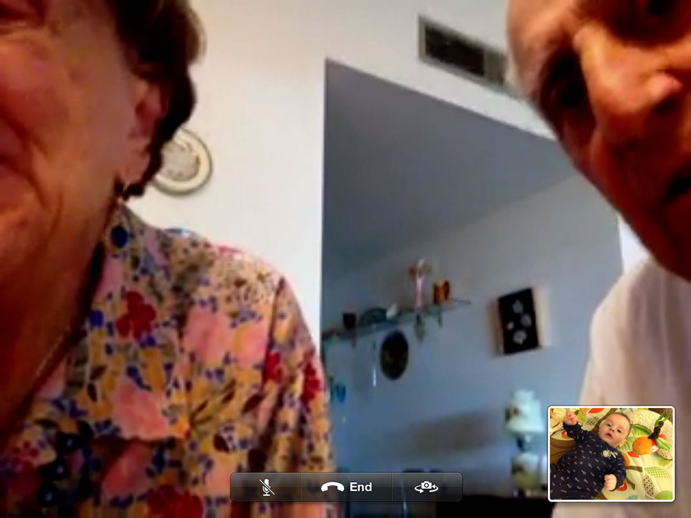 Marco's grandma and grandpa get to grips with FaceTime